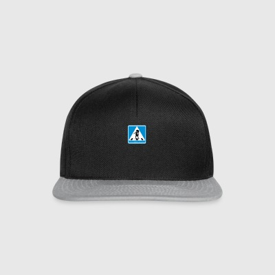 Traffic sign: Pregnancy blue / pregnancy blue - Snapback Cap