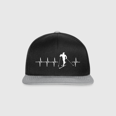 I love cross-country skiing (cross-country skiing heartbeat) - Snapback Cap