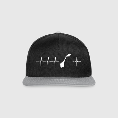 I love Norway (Norway heartbeat) - Snapback Cap