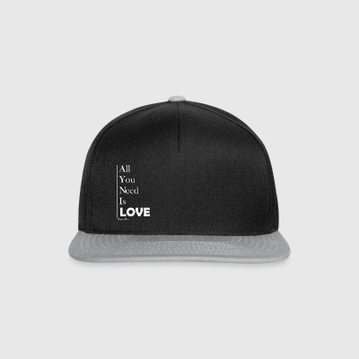 All You Need Is Love - Snapback Cap