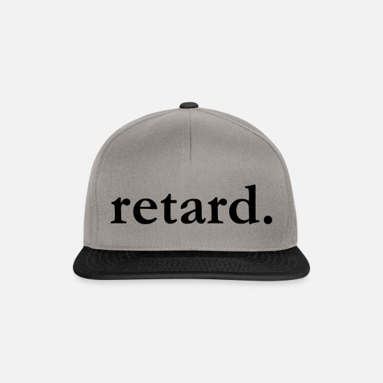 Retard Caps & Hats - retard - Snapback Cap graphite/black
