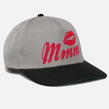 Kissing Lips mmm kissing lips - Cappello snapback