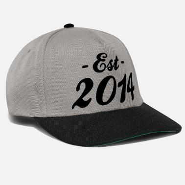 Established established 2014 - geboorte - Snapback cap