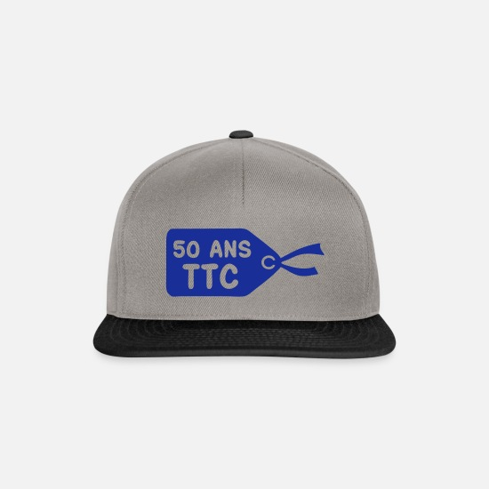 Award Caps & Hats - 50 years label price ttc - Snapback Cap graphite/black