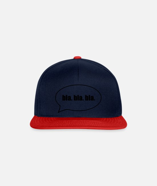 Trendy Caps & Hats - Funny saying blah. bla. bla. - Snapback Cap navy/red