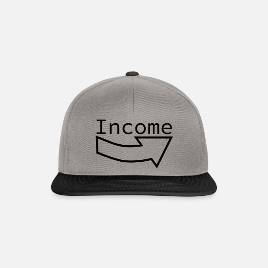 Income Caps & Hats - income - Snapback Cap graphite/black