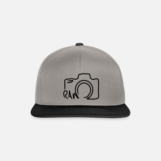 Line Caps & Hats - Camera RAW line shape line drawing - Snapback Cap graphite/black