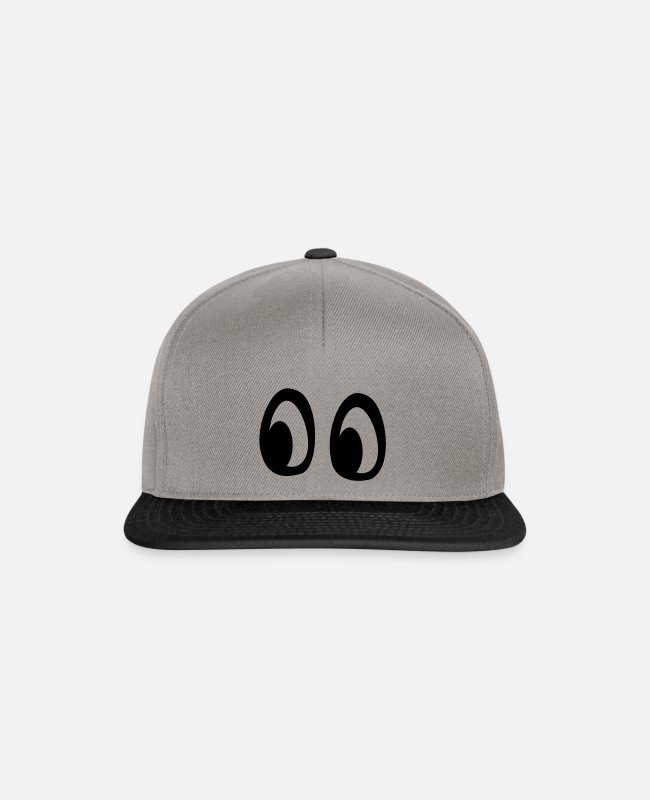 Comic Style Caps & Hats - Big eyes - Snapback Cap graphite/black