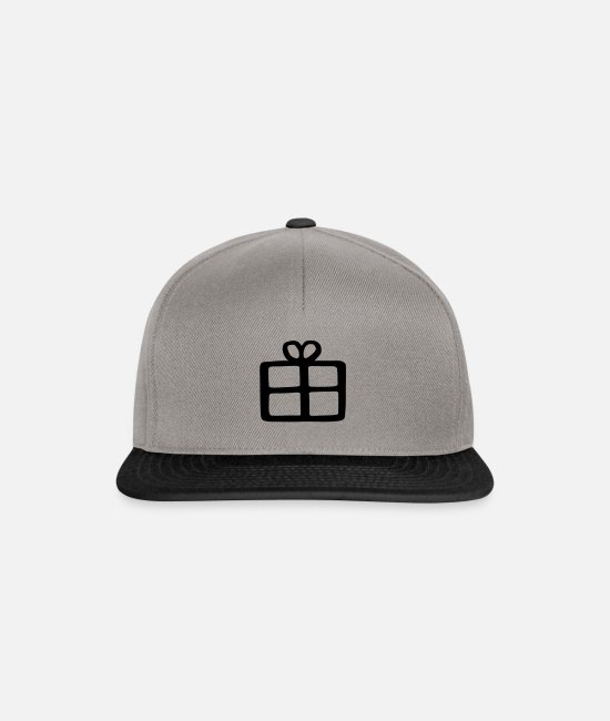 Make A Present Caps & Hats - gift - Snapback Cap graphite/black