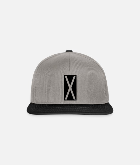 Geometry Caps & Hats - Rectangle X - Snapback Cap graphite/black