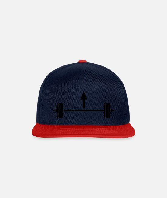 Training Caps & Hats - Lift heavy things - Snapback Cap navy/red
