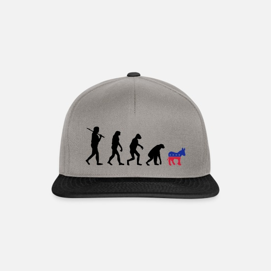 Politics Caps & Hats - Evolution Backward Democrats election campaign USA - Snapback Cap graphite/black