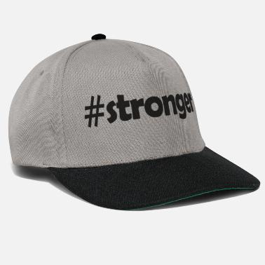 Strong #stronger - # strong - T-shirt design fitness - Casquette snapback