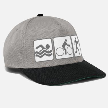 Triathlon holiday swimming pool cool buttons swimming sea well - Snapback Cap
