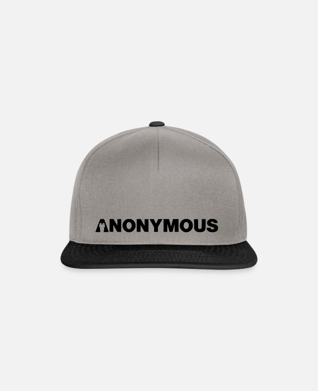 Obey Caps & Hats - Anonymous - We are legion - Expect us - Shirt - Snapback Cap graphite/black