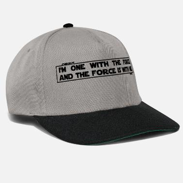 The Force I am one with The Force and The Force is with me - Snapback-lippis
