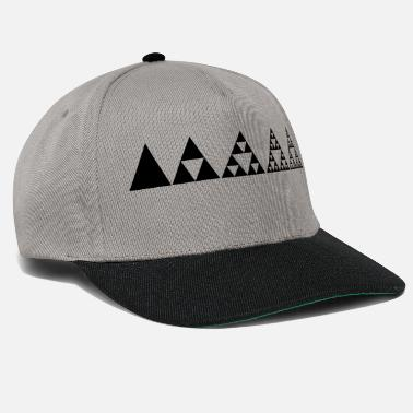 Sacred Geometry Sierpinski triangles, fractal, geometry, - Snapback Cap