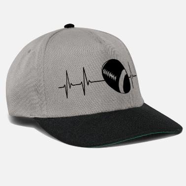 American Football Heartbeat American Football - Snapback Cap