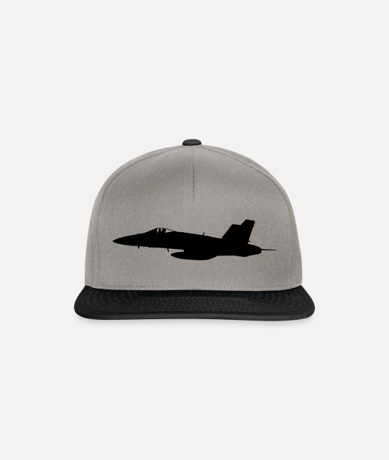 Army Caps & Hats - fighter - Snapback Cap graphite/black