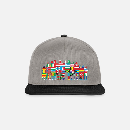 Usa Caps & Hats - Nations - Snapback Cap graphite/black