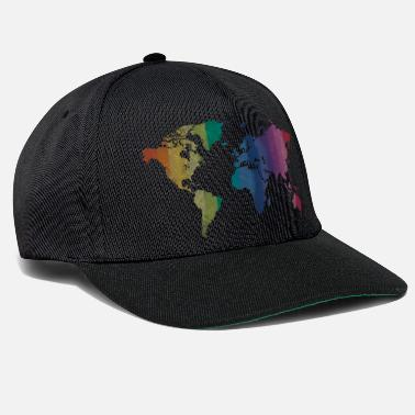 World World map Rainbow - Snapback Cap