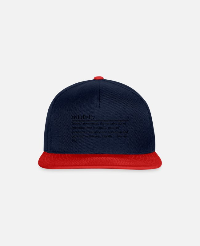 Happiness Caps & Hats - Outdoors - Snapback Cap navy/red