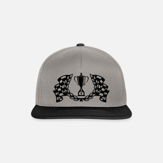 Automobile Caps & Hats - trophy racing flags - Snapback Cap graphite/black