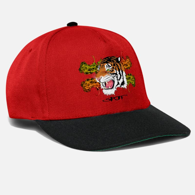 f0ba97d5429d7e Tiger Design Orange Gruen Snapback Cap | Spreadshirt