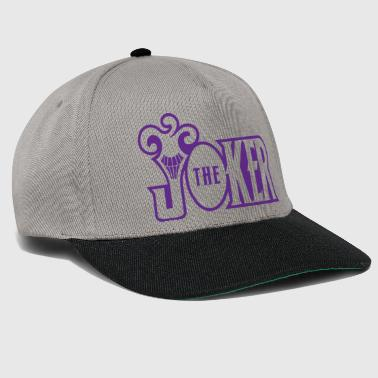 Batman The Joker Snapback Cap Typo - Snapbackkeps