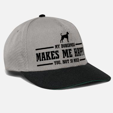 Doberman Pinscher DOBERMAN makes me happy - Snapback Cap