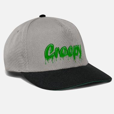 Drippy Green Gloop Creepy - Snapback Cap