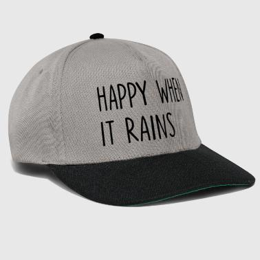 Hipster Happy When It Rains Quote - Snapback cap