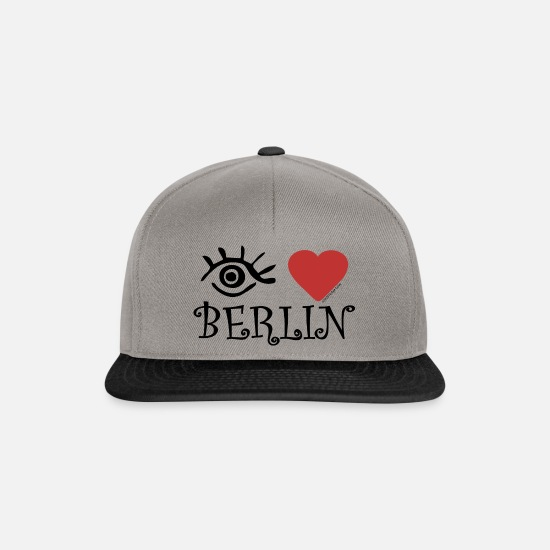 Love Caps & Hats - Eye-Love 'Berlin' - Snapback Cap graphite/black