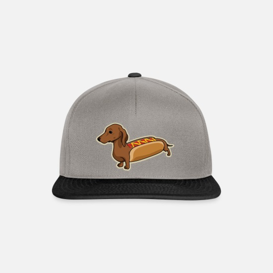 Funny Caps & Hats - Hot Dog - Snapback Cap graphite/black
