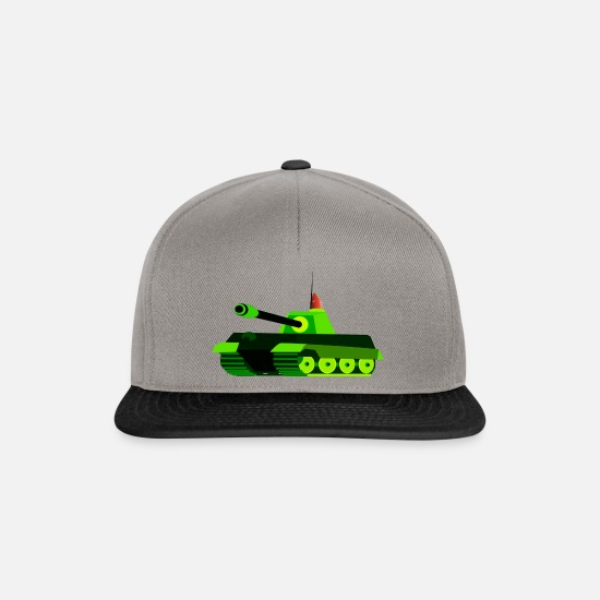Army Caps & Hats - tank tank was war tanque military militaer2 - Snapback Cap graphite/black
