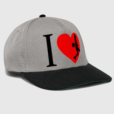 I love tennis, tennis player - Snapback Cap