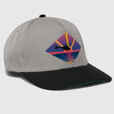 Helicopter Helicopter before sunset - Snapback Cap