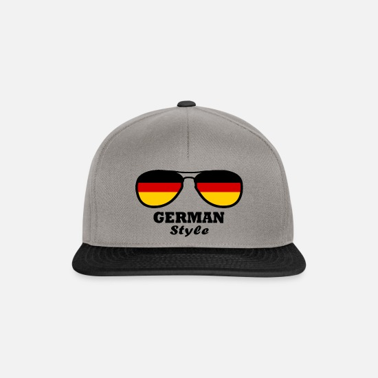 Love Caps & Hats - Germany Flag - German style - Snapback Cap graphite/black