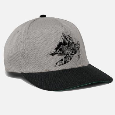 Surreal sea turtle - Snapback Cap