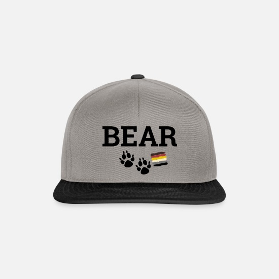 Gay Pride Caps & Hats - Gay Bear - Snapback Cap graphite/black
