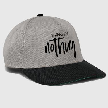 Thanks for nothing - handwriting - Snapback Cap