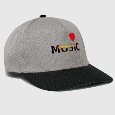Cuore love music idea regalo creativo - Snapback Cap