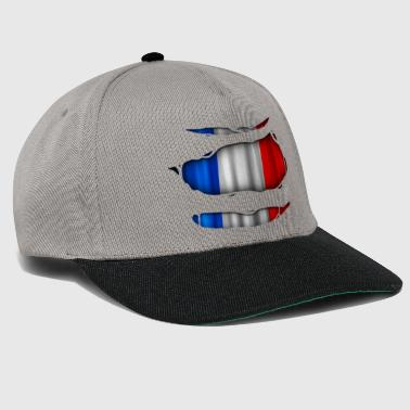 France flag torn 017 - Snapback Cap