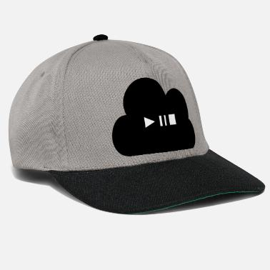 Cloud Play Pause Stop - Snapback Cap
