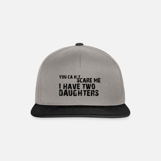 Father Caps & Hats - Father daughters scare fatherhood family - Snapback Cap graphite/black