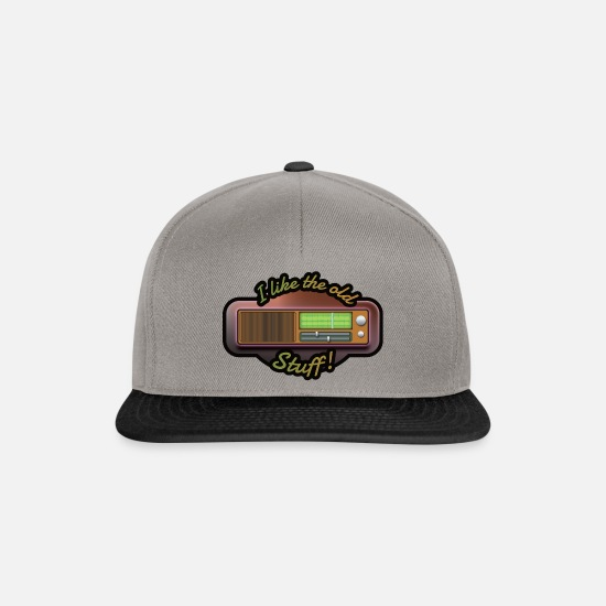 Radioactive Caps & Hats - Retro radio - Snapback Cap graphite/black