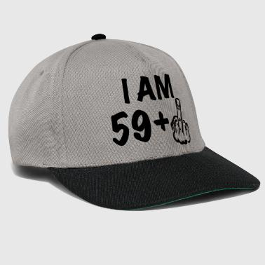 i am 59+ a funny gift for the 60th birthday - Snapback Cap