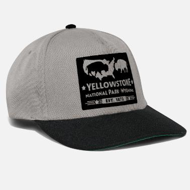 Wyoming Bison Buffalo Parco Nazionale di Yellowstone Wyoming USA - Snapback Cap