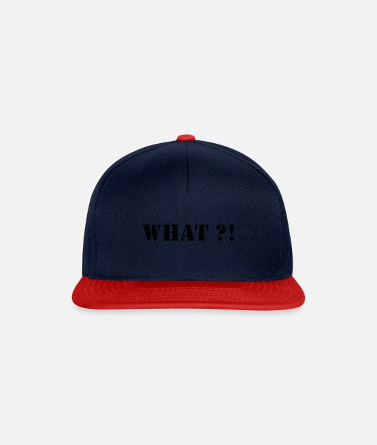 Kaboom Caps & Hats - What - Snapback Cap navy/red