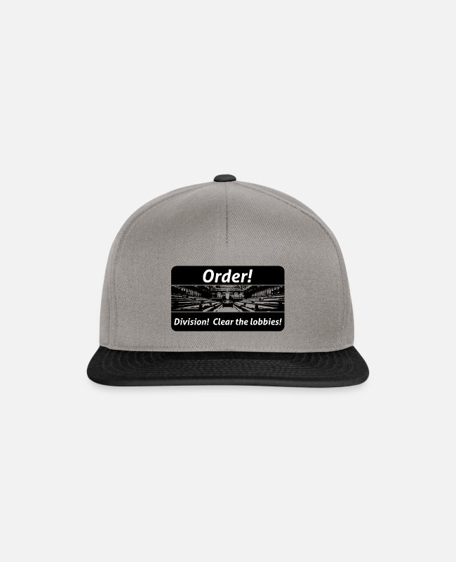 Travel Bug Caps & Hats - Order! Division! Clear the lobbies UK - Snapback Cap graphite/black